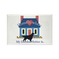 Gordon Setter Home Rectangle Magnet (100 pack)