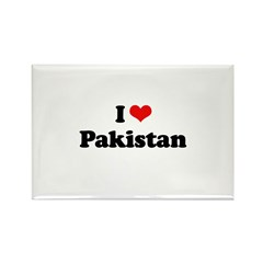 I love Pakistan Rectangle Magnet (10 pack)
