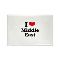 I love Middle East Rectangle Magnet (100 pack)