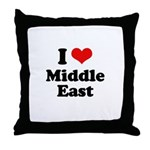 I love Middle East Throw Pillow