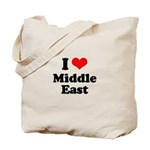I love Middle East Tote Bag