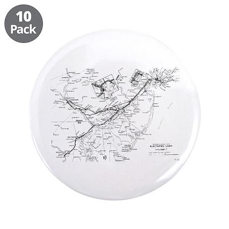 "PRR Electrified Lines Map 3.5"" Button (10 pac"