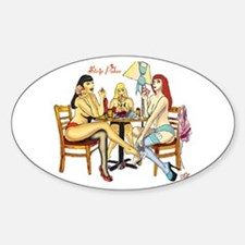 Strip Poker Oval Decal