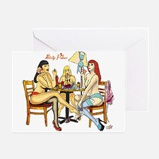 Strip Poker Greeting Card