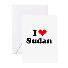 I love Sudan Greeting Cards (Pk of 20)