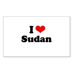 I love Sudan Rectangle Decal