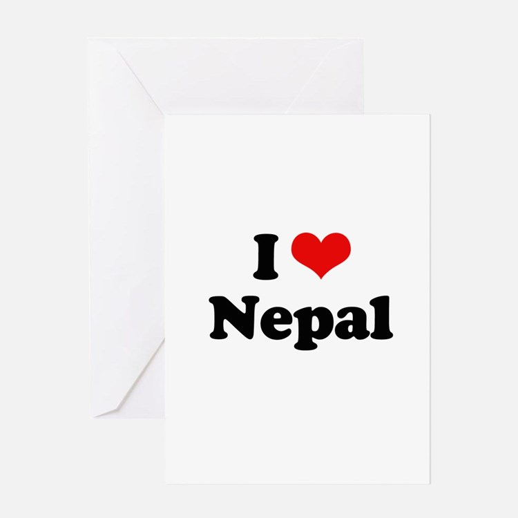 I love Nepal Greeting Card