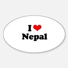 I love Nepal Oval Decal