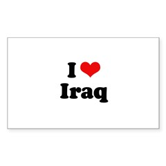 I love Iraq Rectangle Sticker 10 pk)
