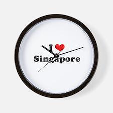I love Singapore Wall Clock
