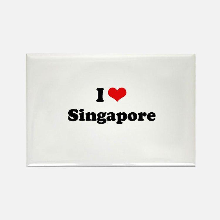 I love Singapore Rectangle Magnet