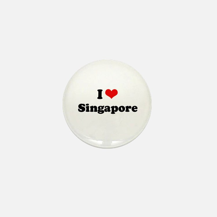 I love Singapore Mini Button