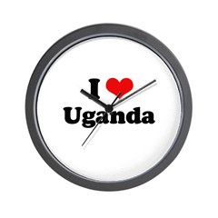 I love Uganda Wall Clock