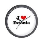 I love Estonia Wall Clock