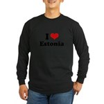 I love Estonia Long Sleeve Dark T-Shirt