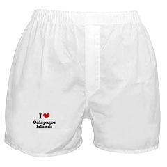 I love Galapagos Islands Boxer Shorts