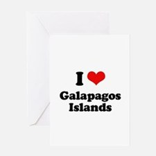I love Galapagos Islands Greeting Card