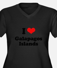 I love Galapagos Islands Women's Plus Size V-Neck