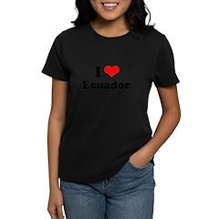 I love Ecuador Women's Dark T-Shirt