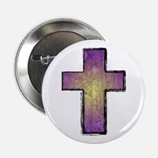 "Christian Cross 2.25"" Button"