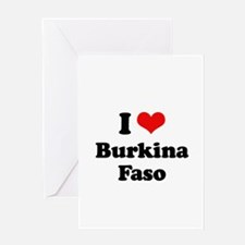 I love Burkina Faso Greeting Card