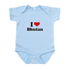 I love Bhutan Infant Bodysuit