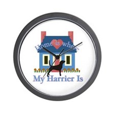 Harrier Home Is Wall Clock