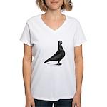 Prager Shortface Pigeon Women's V-Neck T-Shirt