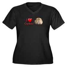 Helaine''s Gopher Women's Plus Size V-Neck Dark T-