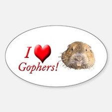 Helaine''s Gopher Oval Decal