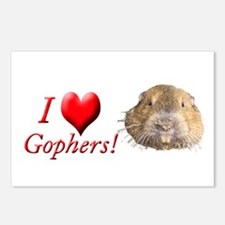 Helaine''s Gopher Postcards (Package of 8)
