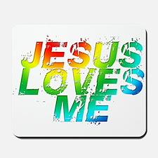 Jesus Loves Me Rainbow Mousepad
