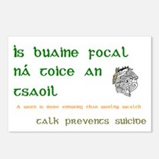 Talk prevents suicide Postcards (Package of 8)