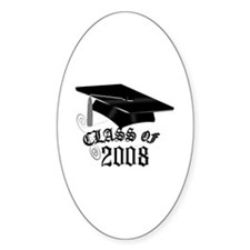 CLASS OF 2008 Oval Decal
