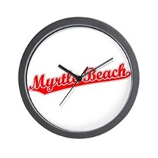 Retro Myrtle Beach (Red) Wall Clock