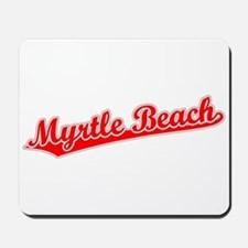 Retro Myrtle Beach (Red) Mousepad