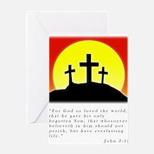 John 3:16 Christian Greeting Card