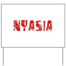 Nyasia Faded (Red) Yard Sign