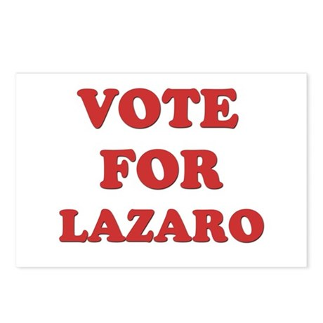 Vote for LAZARO Postcards (Package of 8)