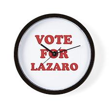 Vote for LAZARO Wall Clock