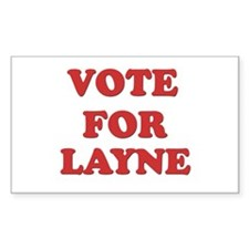 Vote for LAYNE Rectangle Decal