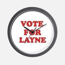 Vote for LAYNE Wall Clock