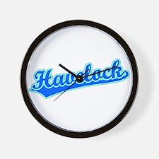 Retro Havelock (Blue) Wall Clock