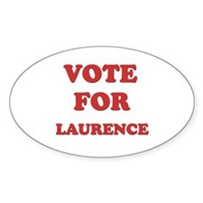 Vote for LAURENCE Oval Decal