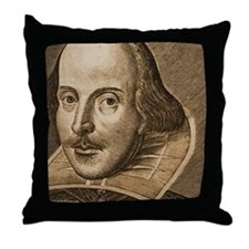 Droeshout's Shakespeare Throw Pillow