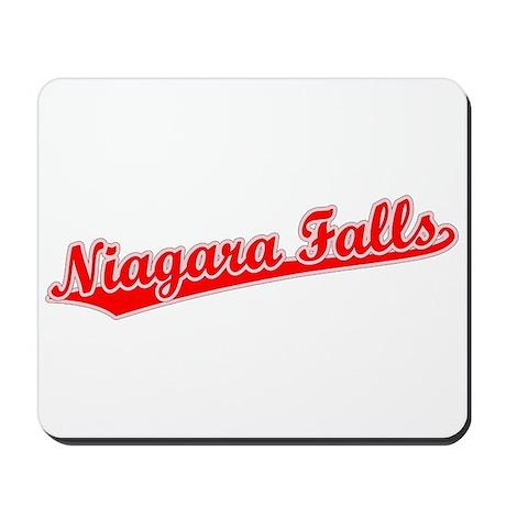 Retro Niagara Falls (Red) Mousepad