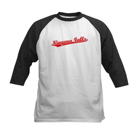 Retro Niagara Falls (Red) Kids Baseball Jersey