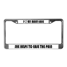 I Luv My Mary-Jane, Weed License Plate Frame