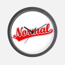 Retro Normal (Red) Wall Clock