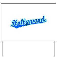 Retro Hollywood (Blue) Yard Sign